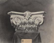 Drawing of a plaster Corinthian capital
