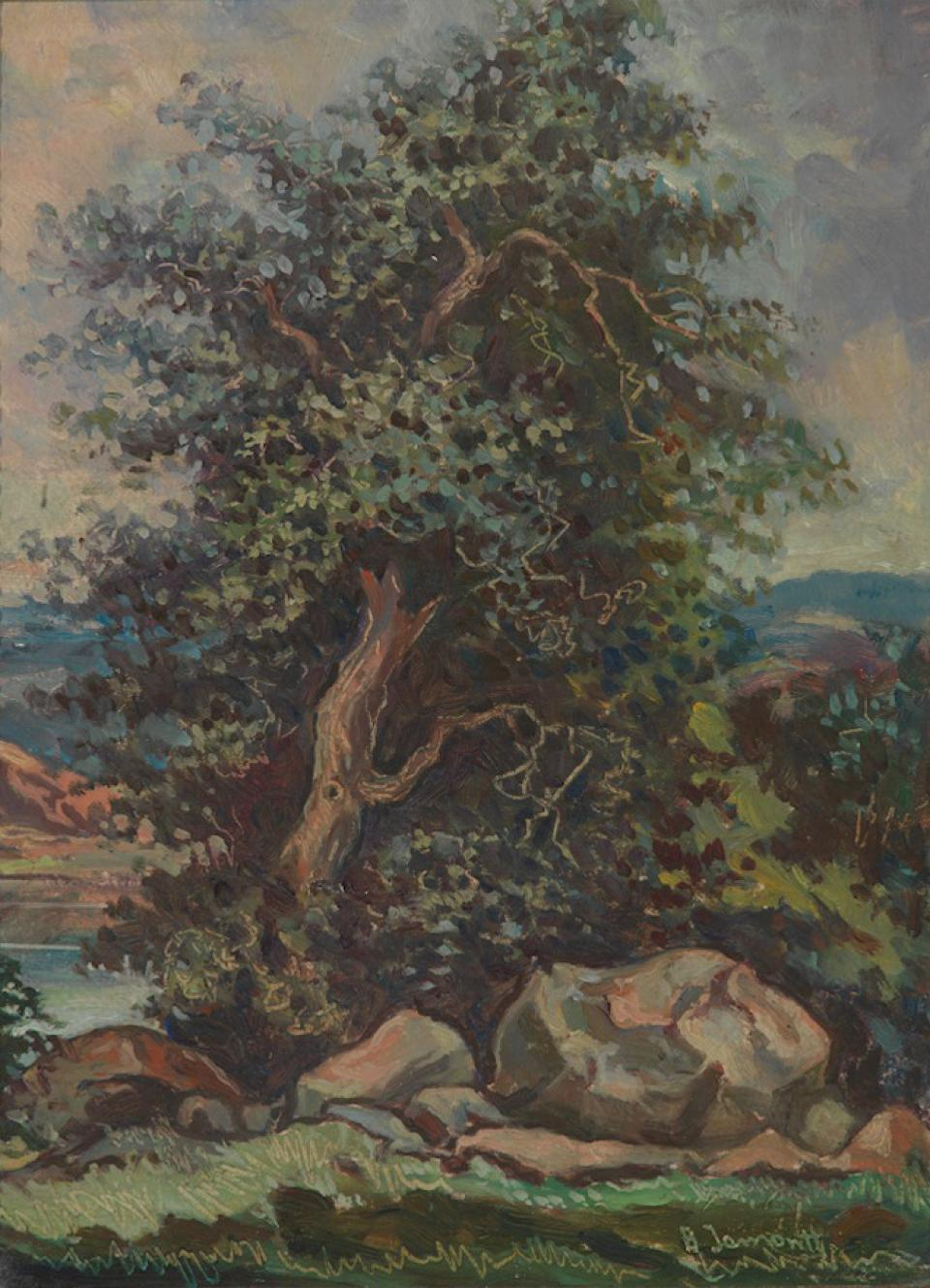 Landscape with the Trees
