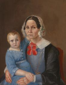 Old Woman with a Child on Her Lap