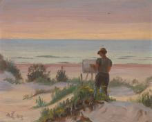 An Artist in the Dunes
