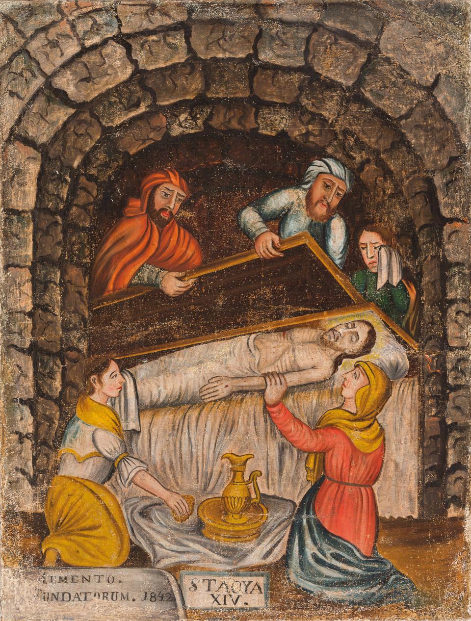 Fourteenth Station. Jesus is Laid in the Tomb