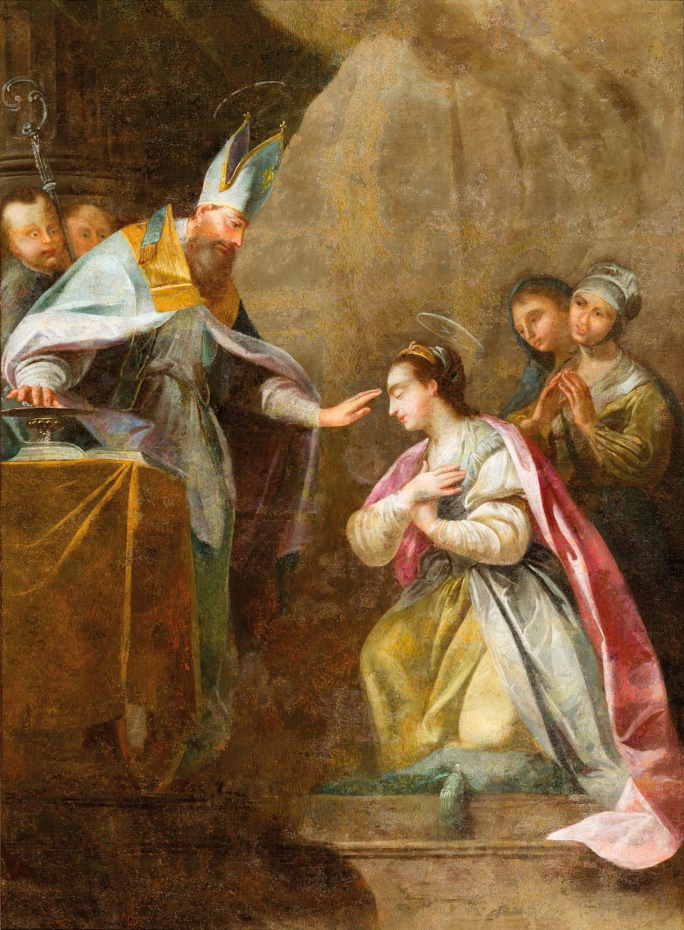 Apparition of St Catherin of Siena (?)