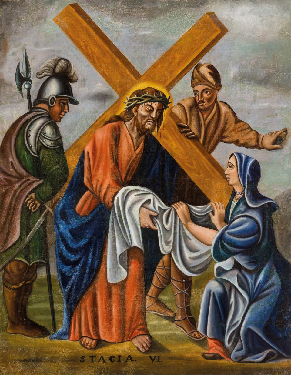 Sixth Station. Veronica Wipes the Face of Jesus