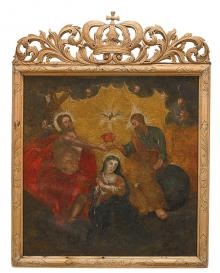 "A two-sided picture ""Coronation of the Blessed Virgin Mary"""