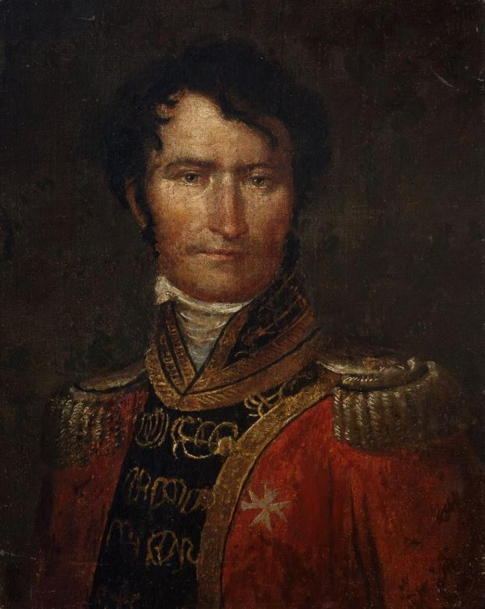 Portrait of a Young Aristocrat with a Uniform of Malta's Order of Knights